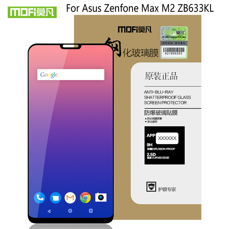 For Asus ZenFone Max M2 ZB633KL Glass Tempered MOFi Full Cover Film Screen Protector For Asus ZenFone Max M2 ZB633KL Glass