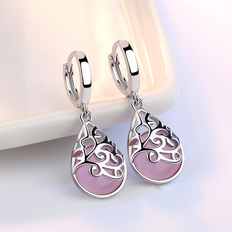 XIYANIKE 925 Sterling Silver Moonlight Opal Tears Totem Earrings Gift Pendientes Oorbellen Boucle D'oreille Femmes New VES6568
