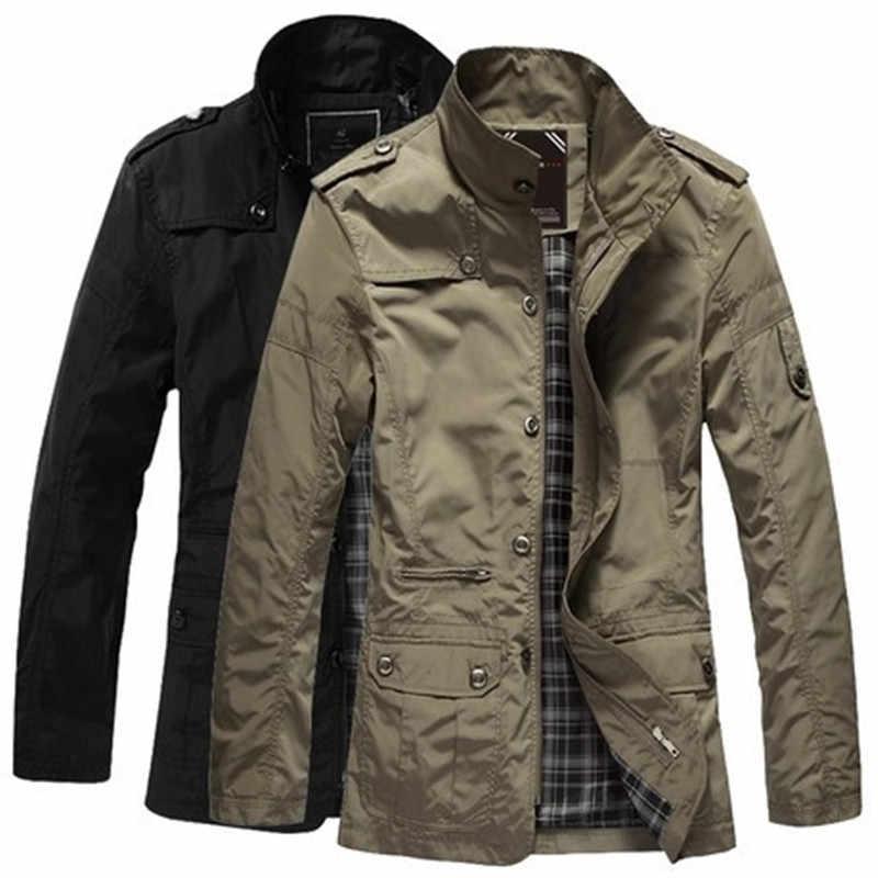 2019 新秋男性のジャケットロングファッショントレンチコートメンズウインドブレーカーオーバーコートスリムパーカービジネスカジュアルトレンチプラスサイズ 5XL