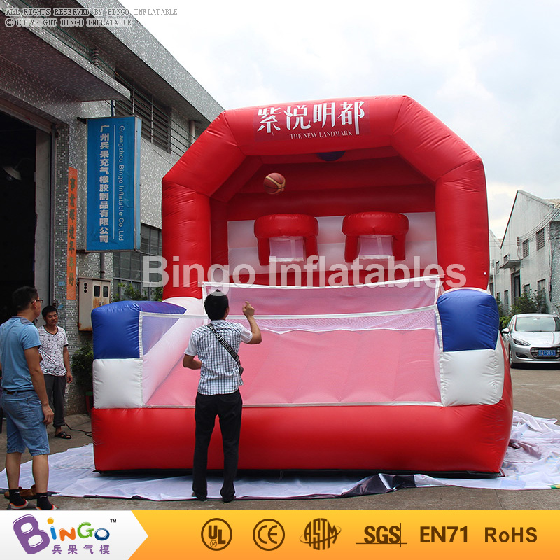 Free shipping giant inflatable basketball stands Basketball shooting game with dobule finger hand for kid N adult sport toy fast free ship for gameduino for arduino game vga game development board fpga with serial port verilog code