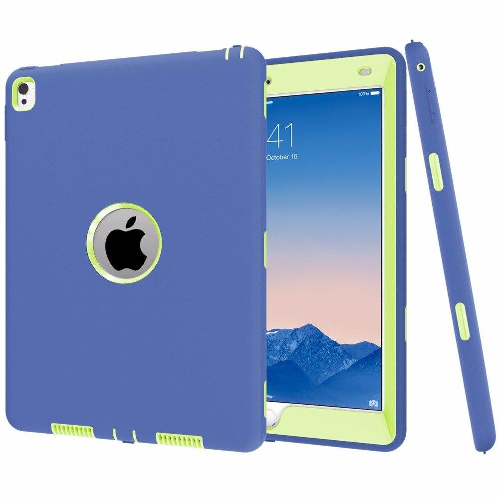Funda For Apple iPad Pro 9.7 Case All Round Protective Cover 3 Layer Plastic + Rubber Case for iPad Pro 9.7 Coque Capa пена монтажная mastertex all season 750 pro всесезонная