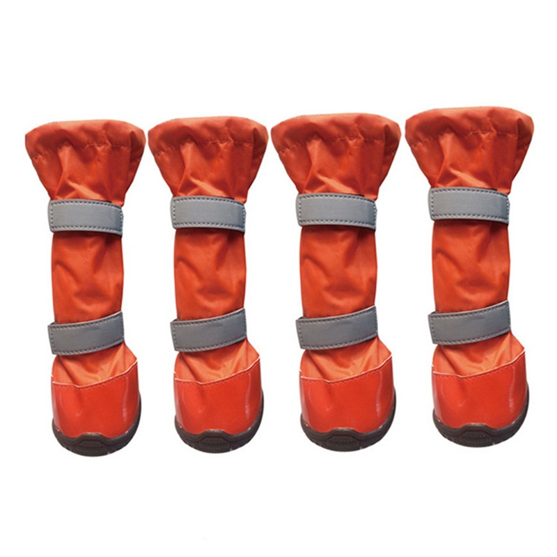 Aukščiausios kokybės nauji 100% vandeniui atsparūs šilti dideli šunų batai žiemai dideli laukiniai lauko šunys batai neslidūs batai šunims 4vnt.