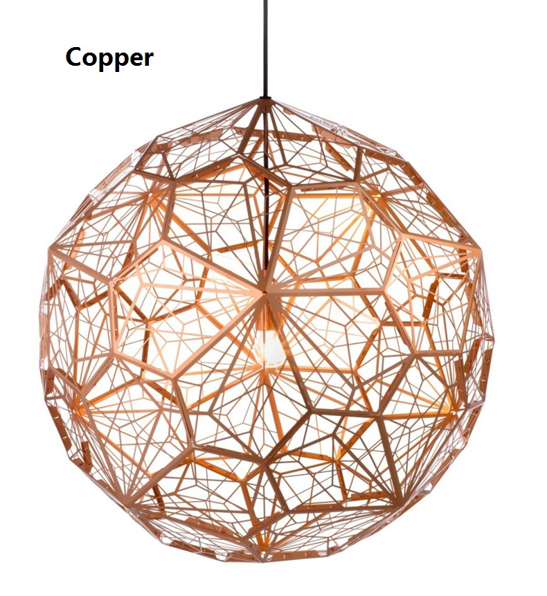 Modern Copper Etch Web Pendant Lights Stainless Steel Lampshade Home Lighting Kitchen Lamp Fixtures E27 220V Lampe suspension dia 72cm 75cm designer lighting etch shade suspension pendant lamps golden stainless steel shade pendant lights