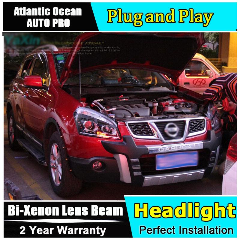 2008 2013 For Nissan Qashqai headlight car styling qashqai head lamp12 high brightness LED DRL parking