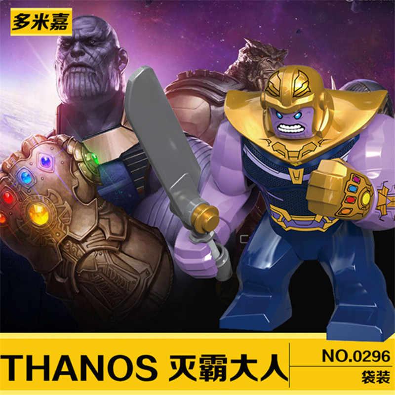 Anak-anak Favorit Avengers Pahlawan Hulk Batman Thanos DIY Legoed Model Blok Bangunan Pendidikan Anak Puzzle Mainan Hadiah
