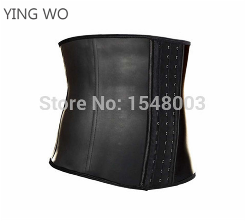 5bdce1e968a1c 9 steel boned men latex waist trainer light black underbust waist slimming  latex waist cincher plus size body shaper work out-in Shapers from  Underwear ...