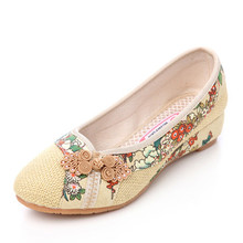 HOT!!! 2016 New Fashion Summer Casual Comfortable Flats Shoes Flower Printing Shoes Soft Sole Cozy Retro Embroidery Cloth Shoes