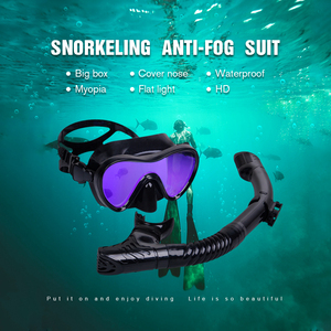 Image 5 - Professional Scuba Diving Masks Silicone Masks Snorkel Anti fog Diving Mask Snorkel Full Dry Tube Underwater Swimming Equipment