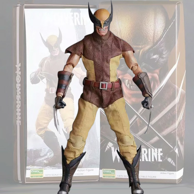 26cm Crazy Toys 16th Super Hero Wolverine PVC Action Figure Collectible Model Toy Christmas Gift 26cm crazy toys 16th super hero wolverine pvc action figure collectible model toy christmas gift halloween gift