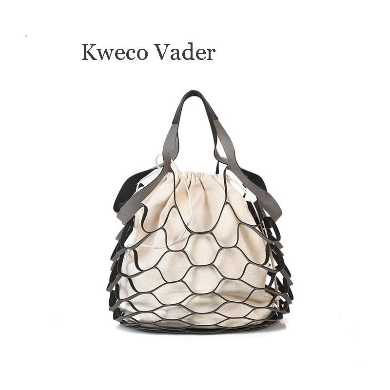 Wholesale Totes  Trend Bag Korean Fishingnet Hollow Canvas Bag Matte Mother Bag Bolsas Femininas