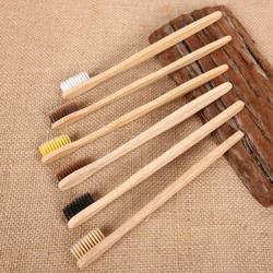 10 шт./setEnvironmental бамбуковый уголь зубная щетка для орального здоровья низкоуглеродная средняя мягкая щетина деревянная ручка зубная щетка