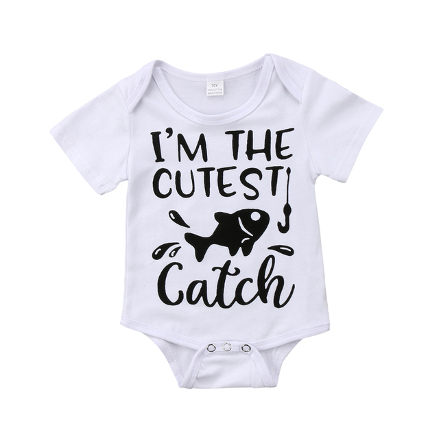 c5840de2b 2018 FOCUSNORM Newborn Baby Girl Boy Unisex Fish Romper Jumpsuit ...