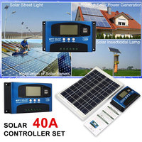 Solar Panel Charger Solar Charge Controller PWM Solar Controller Polysilicon W/Dual USB PWM Inverters