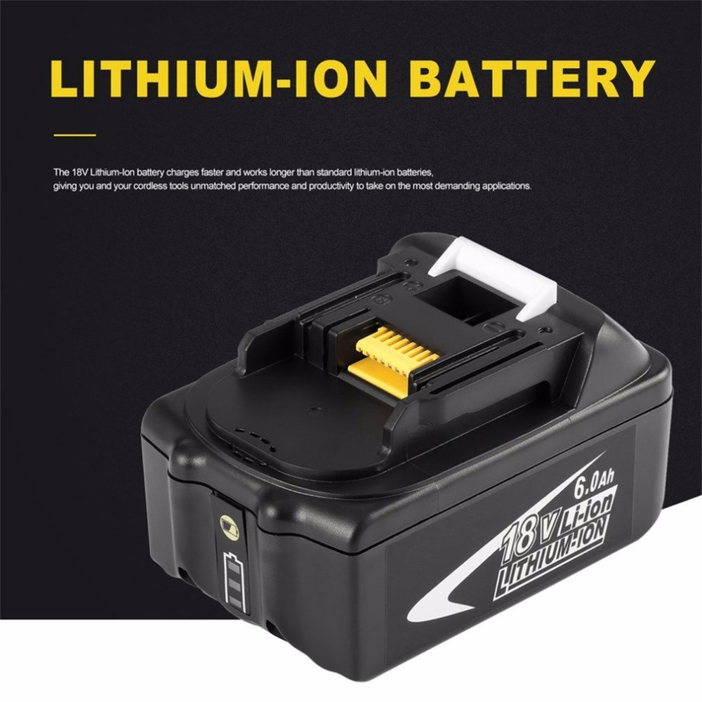 New Portable 18V Rechargeable Battery 6AH 6000 mAh Li-Ion Battery Replacement Power Tool Battery for MAKITA BL1860 18v 3 0ah nimh battery replacement power tool rechargeable for ryobi abp1801 abp1803 abp1813 bpp1815 bpp1813 bpp1817 vhk28 t40