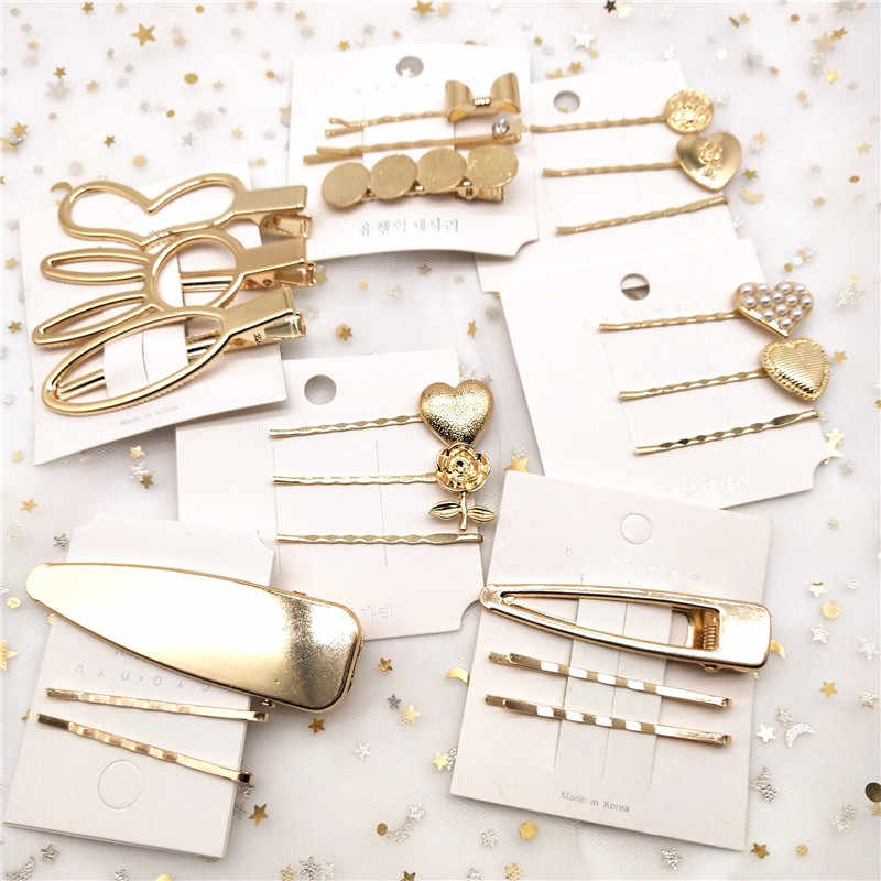 Korean Style Pearl Metal Hair Clip Hairband Comb Bobby Pin Barrette Hairpin Headdress Accessories Beauty Tools New Arrival