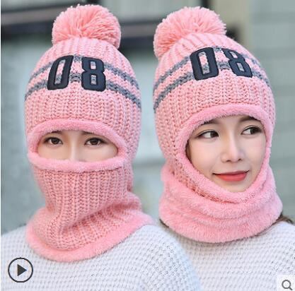 VEITHDIA Women's Knitted Hat Scarf Caps Neck Warmer Winter Hats For Men Women   Skullies     Beanies   Warm Fleece Cap wholesale