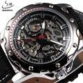 SHENHUA Homens Relógio Marca De Luxo Automático Relógios Mecânicos Skeleton Militar Masculino Relógio Do Esporte relógio de Pulso Relogio masculino