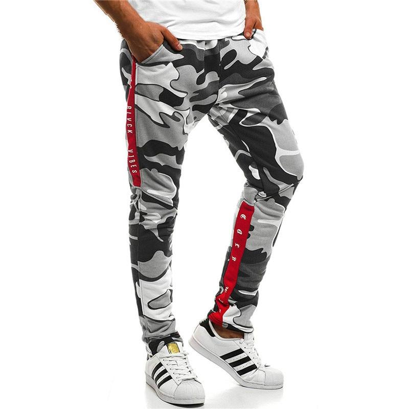 Harem Joggers Pants Men 2019 Hip Hop Fitness Padded Camouflage Print Male Trousers Solid Contrast Color Pants Sweatpants XXXL