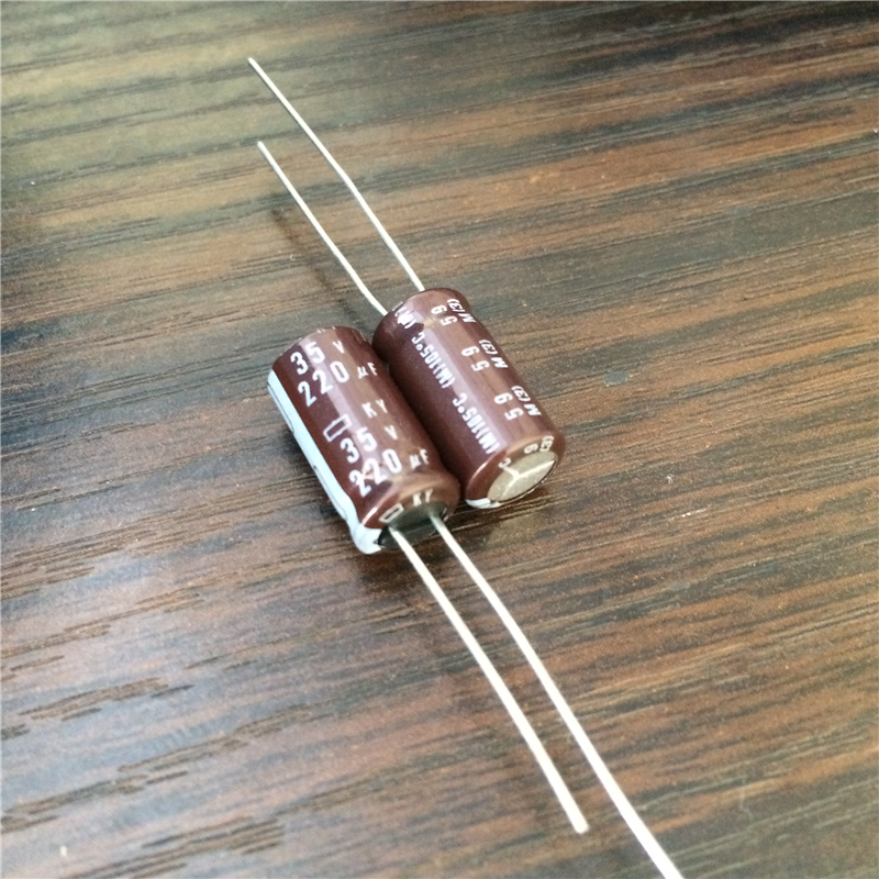 10pcs 220uF 35V NIPPON KY Series 8x15mm Low ESR 35V220uF Aluminum Electrolytic Capacitor