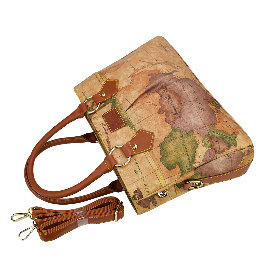 High quality world map women bag fashion women messenger bags high high quality world map women bag fashion women messenger bags high capacity handbag brand bags design tote bag in totes from luggage bags on gumiabroncs Gallery