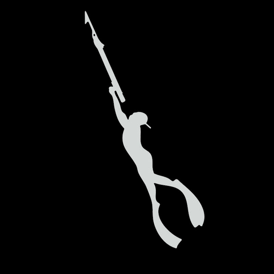 Ocean hunters diving car vinyl stickers cm simple spear for Diving and fishing mural