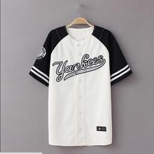#1102 Hip Hop t shirt frauen männer Baseball-shirt Streetwear Unisex Koreanischen stil Harajuku Punk Baseball trikots t shirts
