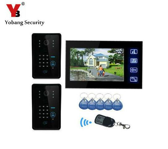 "Yobang Security-7""Password Video Door Phone Remote Control Interphone Visiophone Touch Screen Door Camera Surveilliance Monitor"