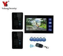Yobang Security-7″Password Video Door Phone Remote Control Interphone Visiophone Touch Screen Door Camera Surveilliance Monitor