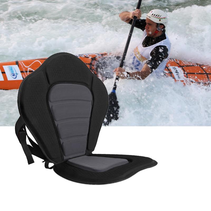 Waterproof Kayak Padded Seat Rowing Boat With Removable Sundries Bag Eva Film Pressing Kayak Canoe Cushion Adjustable Backrest