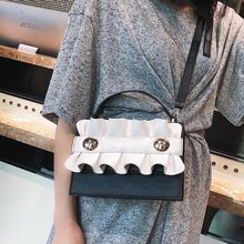 2018 Fashion New Women's Designer Handbag High quality PU leather Women bag Simple Lace Square bag Tote Shoulder Crossbody Bags