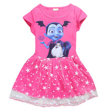 Girls Vampirina Dresses 2019 Summer Girls Cartoon Princess Party Cosplay Dress Children Clothing Costume Kids Clothes Vestido 2017 summer dresses for girls moana tutu princess girls dress children party cosplay chiffon kids clothes cartoon child costume