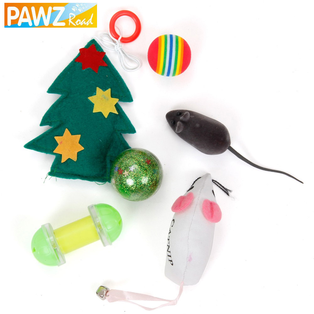 PAWZRoad Pet Cat Mouse Free Shipping Pet Dog Frisbee Puppy Cat Chew Training Play Games Toy Tools for Cats Set Pet Supplies