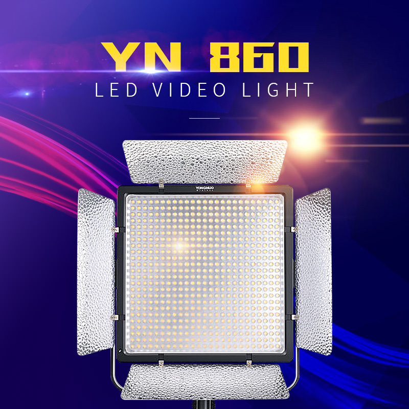 YONGNUO YN860 Dual Color LED Video Light with 3200k-5500k Adjustable Color  Temperature Video LED Light Lamp For Selfie Beauty M