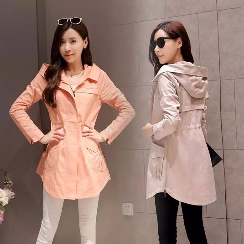 2016 Trench Coat For Women Autumn Female Hooded Windebreaker Outwear Coat Plus Size Femininos Gabardina Mujer Trench
