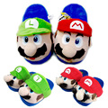 2Colors Super Mario Kids Slippers  Woman ManToys Shoes Cotton Plush Winter Home Luigi Slipper Indoor Cute Slippers Toys 23~27cm