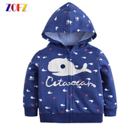 ZOFZ Baby Jacket For Gilrs New Fashion Baby Clothes Print Cotton Sweatshirts For Bebes One Piece