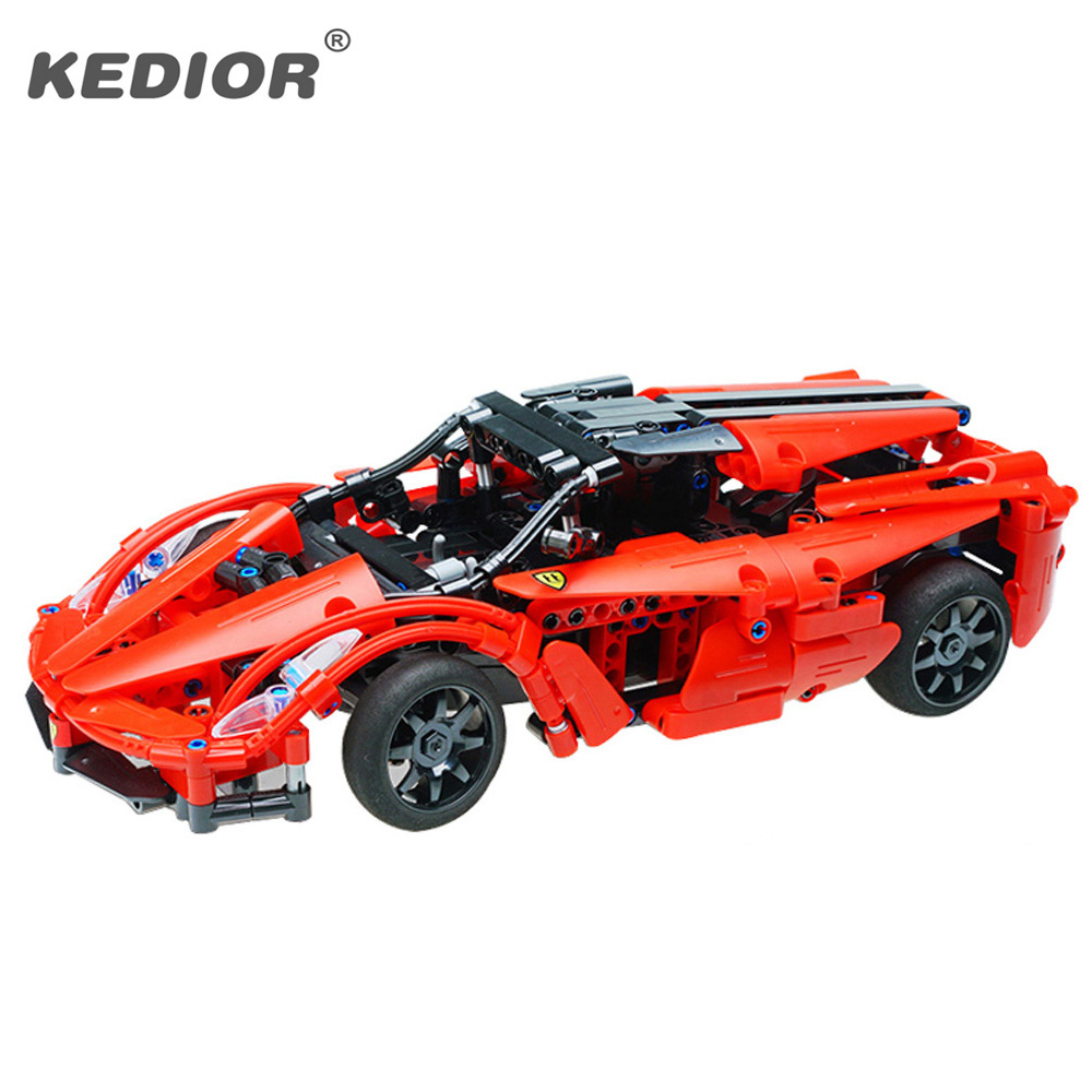 2019 New Technic 15-20KM/H Supercar RC Car Model Building Block Educational Construction Bricks Remote Control Car With Battery image