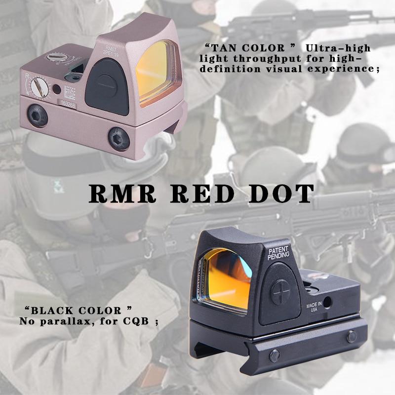 Trijicon Mini RMR point rouge viseur collimateur Glock/fusil Reflex portée de visée adaptée 20mm tisserand Rail pour Airsoft/fusil de chasse