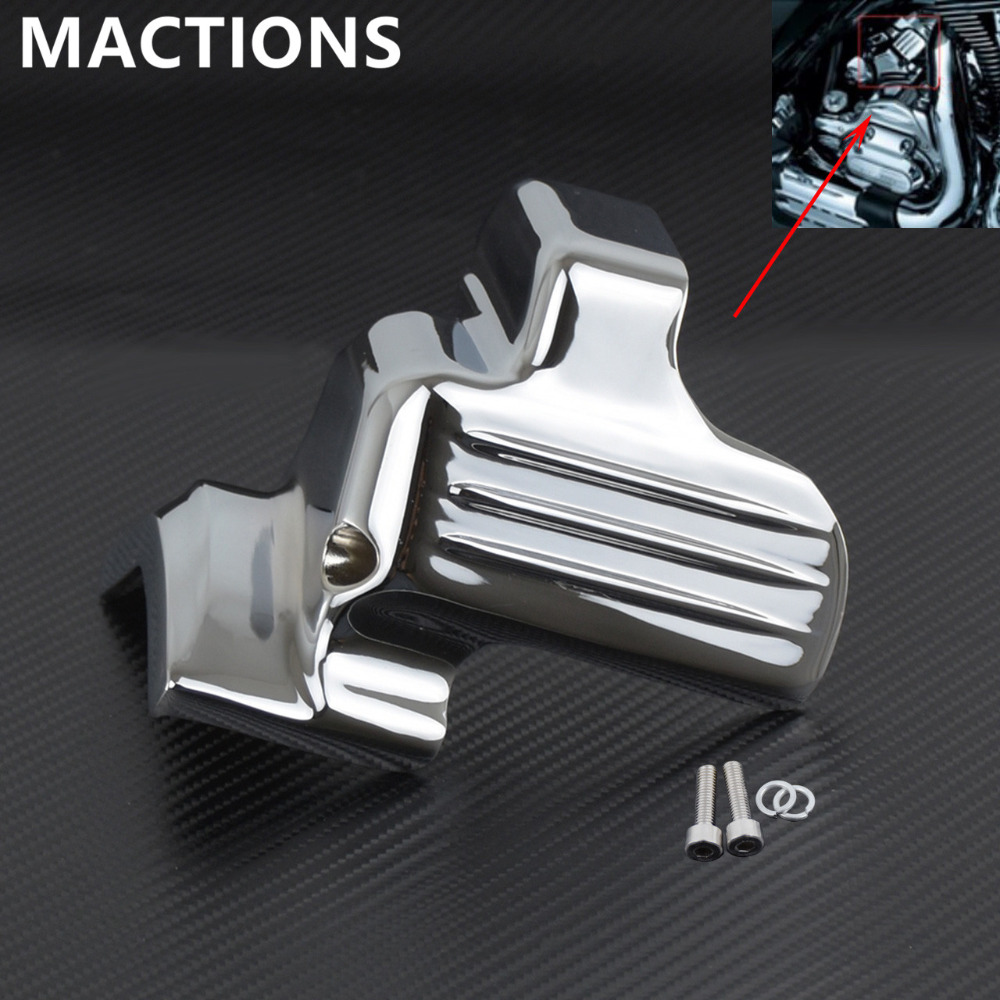 Motorcycle Chrome Black Starter Cover For Harley Touring Electra Glides Road Glides Street Glides 07 15