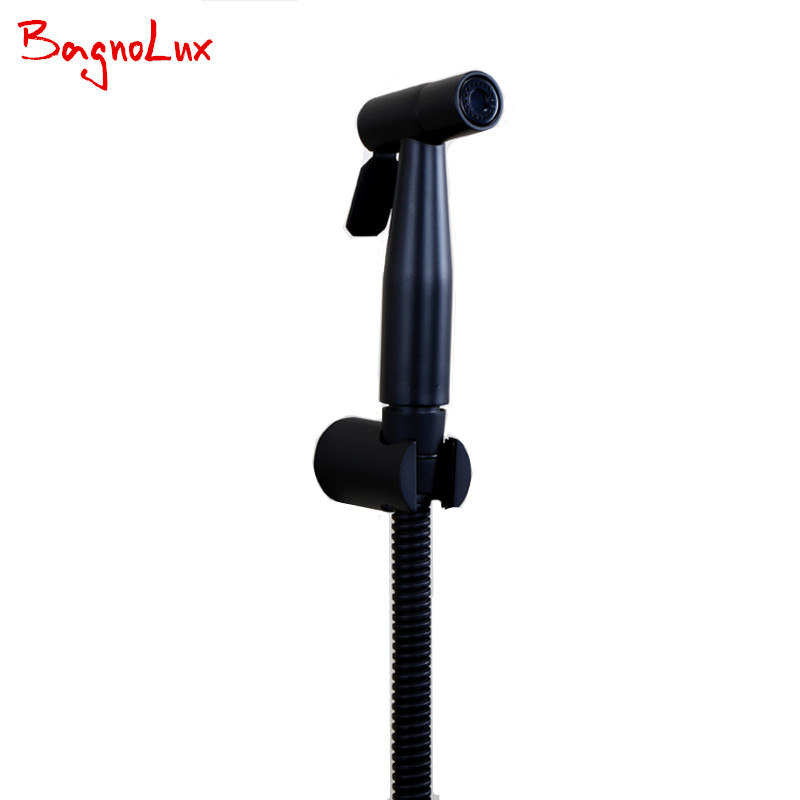 New Bidet Toilet Sprayer Luxurious Small Handheld Bathroom Shower Matt Alba Black Plate Shattaf Portable Toilet Hand Bidet Spray