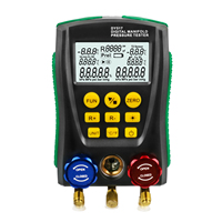 Refrigeration Tools Digital Manifold Gauge Meter HVAC Vacuum Pressure Temperature Tester Leakage Test