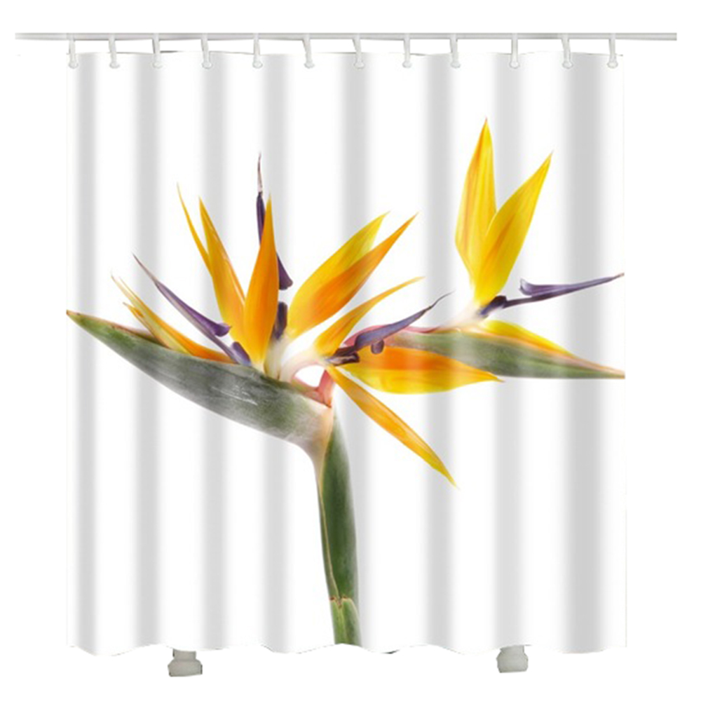 flower bamboo shower curtain 3d new arrival gift fashion polyester fabric bath shower curtain