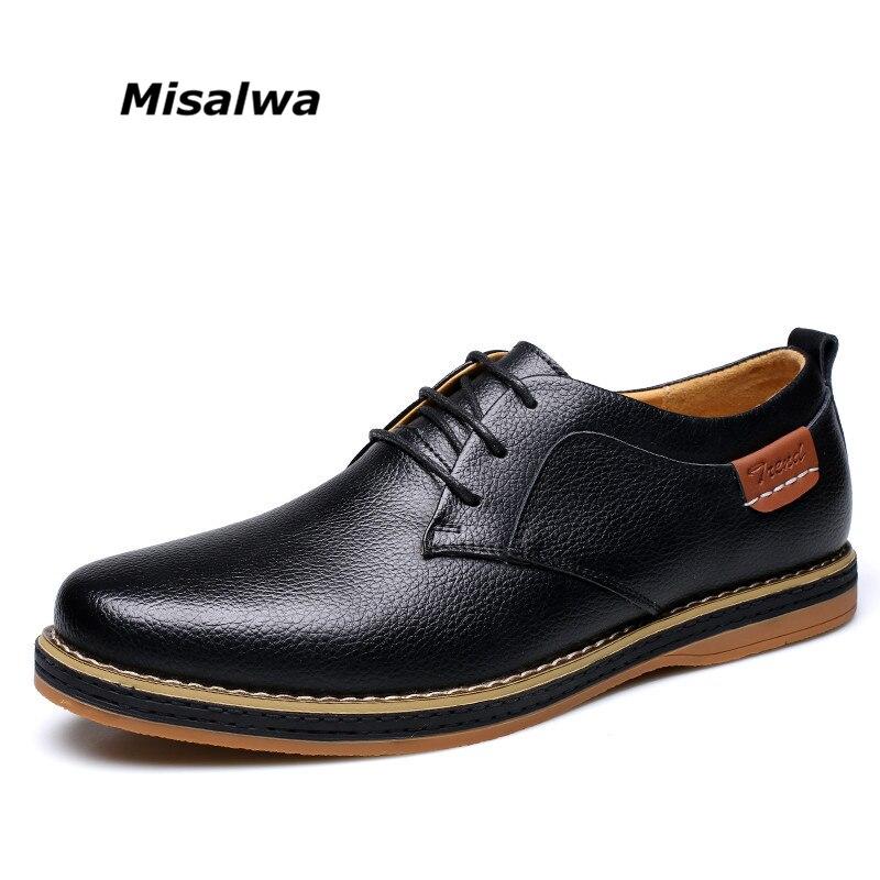 2019 hommes d'affaires hommes chaussures en cuir bleu noir jaunâtre dentelle robe Oxfords loisirs talon bas Zapatos Hombre Vestir taille 10