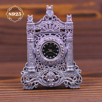 Limited Edition Classic Articles S925 Thai Siliver Exquisite  Eiffel Tower Watch Clock