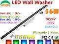 36 W DMX512 RGB LED Wall Washer DC24V ao ar livre holofotes mudam de cor LED holofote IP65 à prova d ' água edifícios luz do projetor
