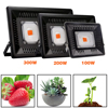 Full Spectrum LED Grow Light For Outdoor Plants Growth Flood Light 400 850nm Waterproof 100W 200W