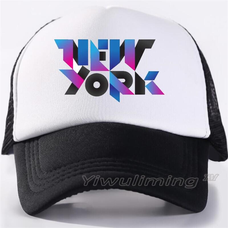 2019 New Custom new York Trucker Mesh   Baseball     Caps   Adult men and women Advertise snapback Hats Casquette