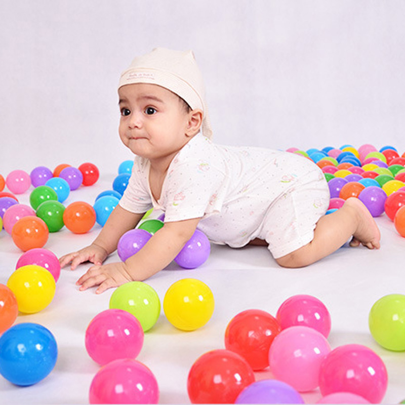Image 4 - 50/100 Pcs Eco Friendly Colorful Soft Plastic Water Pool Ocean Wave Ball Baby Funny Toys Stress Air Ball  Outdoor Fun Sports Hot-in Toy Balls from Toys & Hobbies