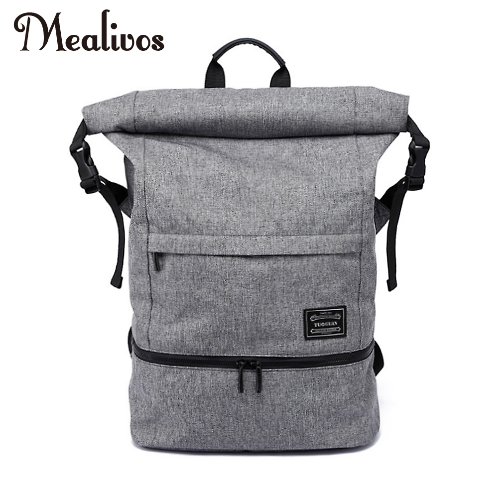 Mealivos 18.5 inches Water Resistant Casual Laptop Backpack With Shoe Compartment Large Capacity Student Backpack коробка для мушек snowbee slit foam compartment waterproof fly box x large