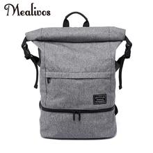 Mealivos 18.5 인치 방수 기능이있는 캐주얼 노트북 가방, 신발 칸 포함 대용량 학생용 책가방
